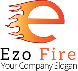 "letter ""e"" in flames Logo Vector"