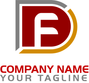 Letter F D Company Logo Vector