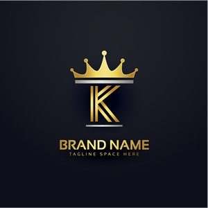 Letter k Crown Logo Vector