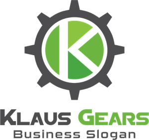 Letter k with gear Logo Vector