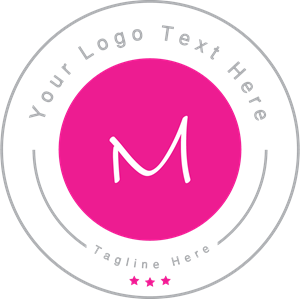 Letter m badge Logo Vector
