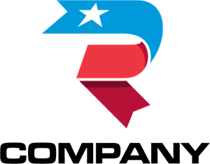 Letter R Ribbon Logo Vector