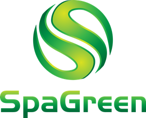 Letter S Spa Green Company Logo Vector