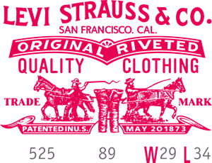 Levis Label R Logo Vector