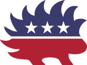 Libertarian Party Porcupine Logo Vector