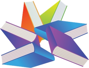 Library Books Logo Vector