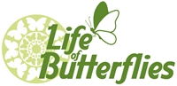 Life of Butterflies Logo Vector