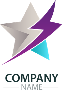 Lightning star company Logo Vector