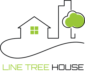 Line Tree House Logo Vector