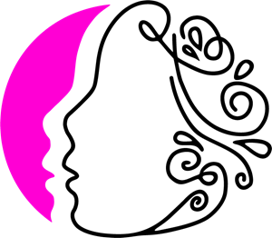 Lined Woman Face Logo Vector