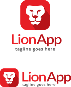 Lion App Logo Vector