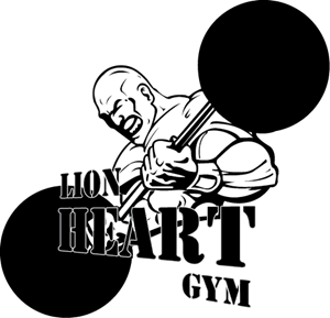 Lion Heart Gym Logo Vector