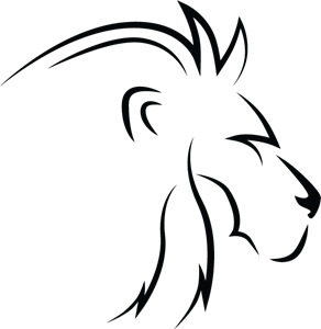 Lion Line Art Profile Logo Vector
