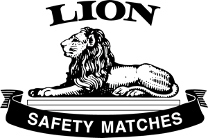 Lion Safety Matches Logo Vector
