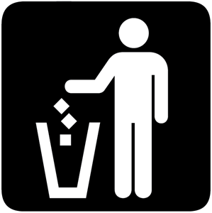 LITTER BIN SIGN Logo Vector