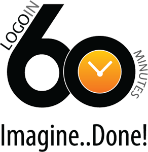 Logo in 60 Minutes Logo Vector