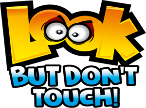 Look But Don't Touch! Logo Vector