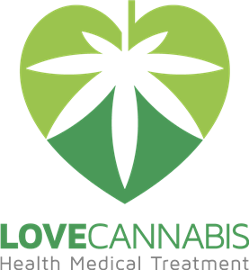 Love cannabis Logo Vector