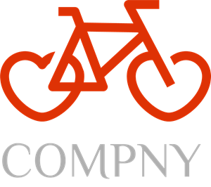 Love Cycle Company Logo Vector