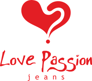 Love Passion Jeans Logo Vector