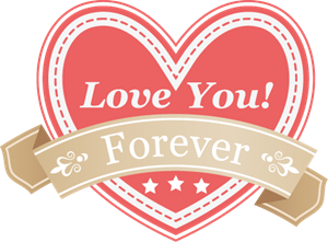 Love You Forever (Valentine's Day) Logo Vector