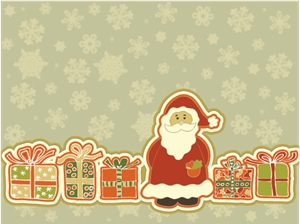 lovely christmas element Logo Vector