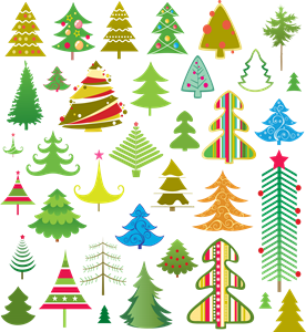 lovely christmas tree Logo Vector