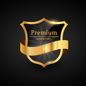 Luxury Golden Badge Logo Vector