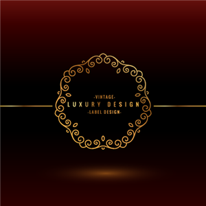 Luxury Label Design Logo Vector