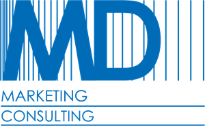 MD Marketing Consulting Logo Vector