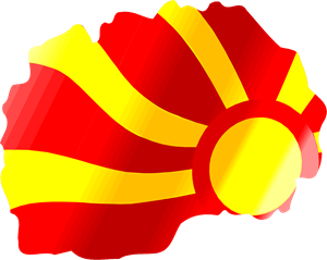 Macedonia flag Logo Vector