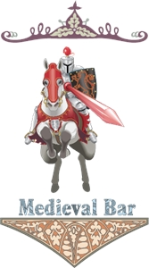 Medieval Bar Logo Vector