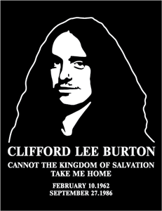 Metallica Bassist Cliff Burton Logo Vector