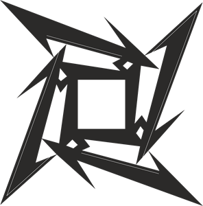 Metallica ninja star Logo Vector