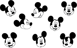 Mickey Mouse Logo Vector