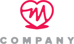 M Heart Logo Vector