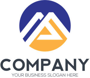 M Letter Company Logo Vector