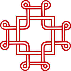 Macedonian Cross Logo Vector