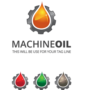 Machine Oil Logo Vector
