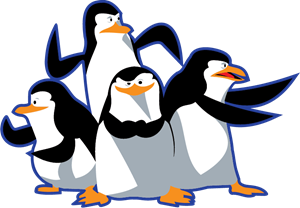 madagascar pinguinos penguins Logo Vector