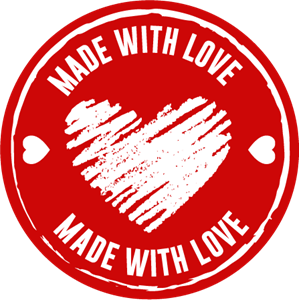 Made With Love Icon Logo Vector