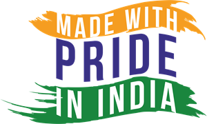MADE WITH PRIDE IN INDIA Logo Vector