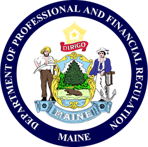 Maine Department of Professional and Financial Reg Logo Vector