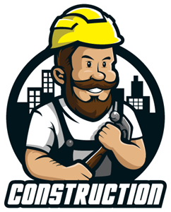 Maintenance construction worker Logo Vector