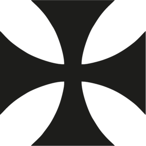 Maltese Cross Logo Vector