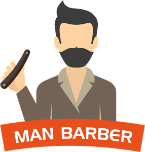 Man Salon Barber Logo Vector