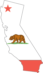 MAP OF CALIFORNIA Logo Vector