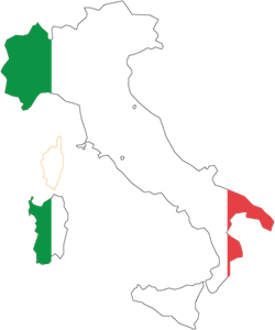 MAP OF ITALY Logo Vector