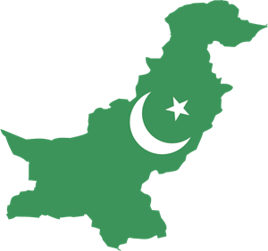 map of pakistan Logo Vector
