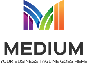 Medium M Letter Logo Vector